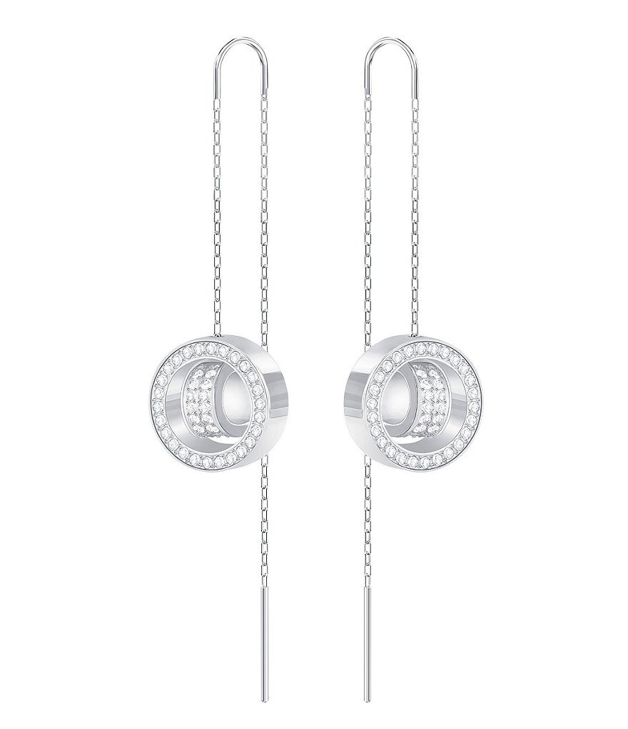 Swarovski Hollow Crystal Threader Drop Earrings