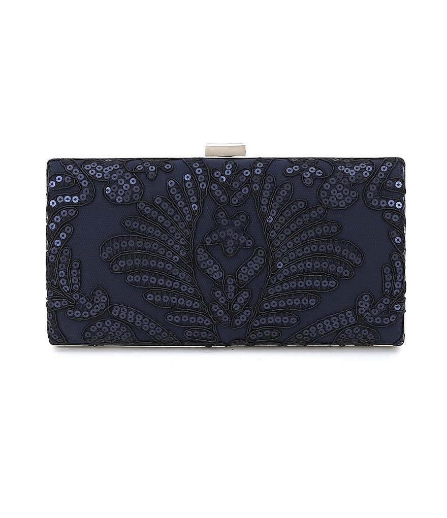 Tadashi Shoji Sequined Embroidered Lace Clutch