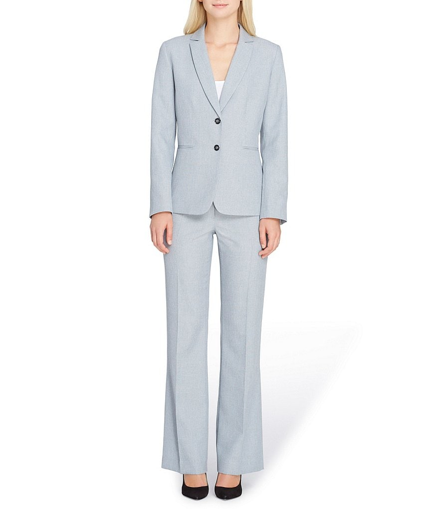 Tahari ASL 2 Button Notch Collar Pant Suit