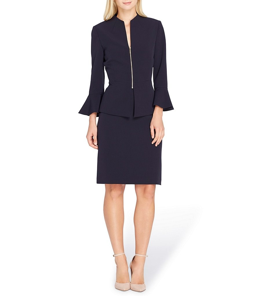 Tahari ASL Bell Sleeve Skirt Suit