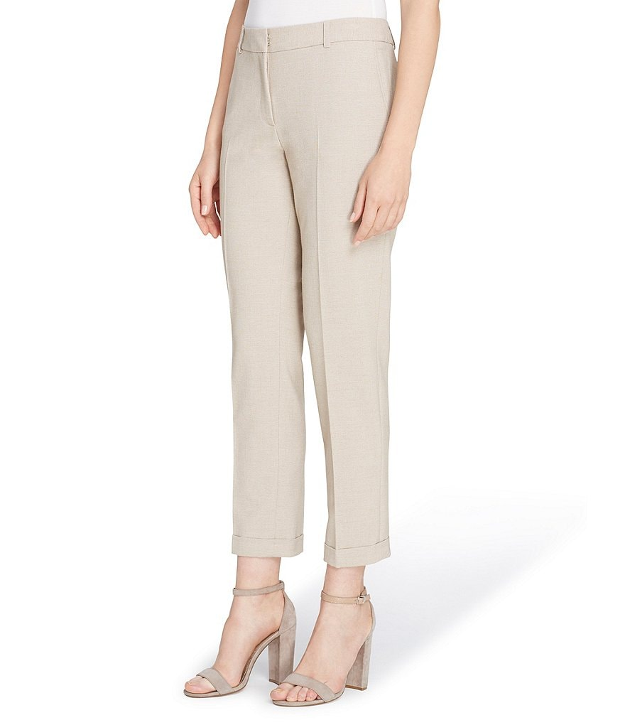 Tahari ASL Bi-Stretch Cuffed Ankle Pants