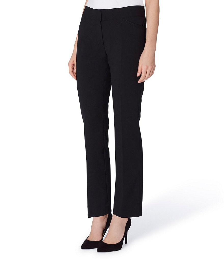 Tahari ASL Bi-stretch Straight Leg Trousers