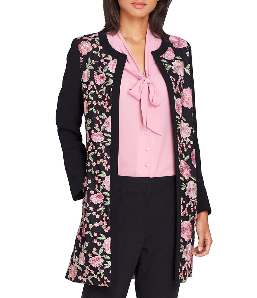 Tahari ASL Embroidered Topper Jacket