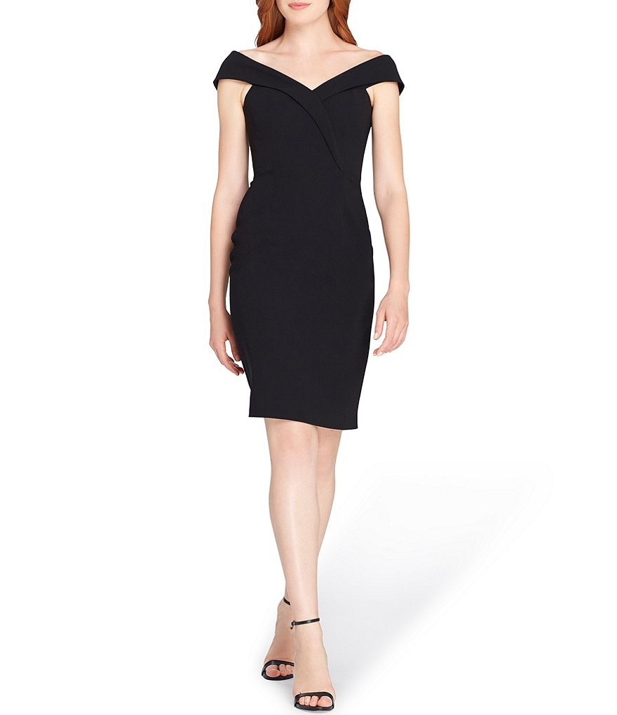 Tahari ASL Envelope Collar Sheath Dress