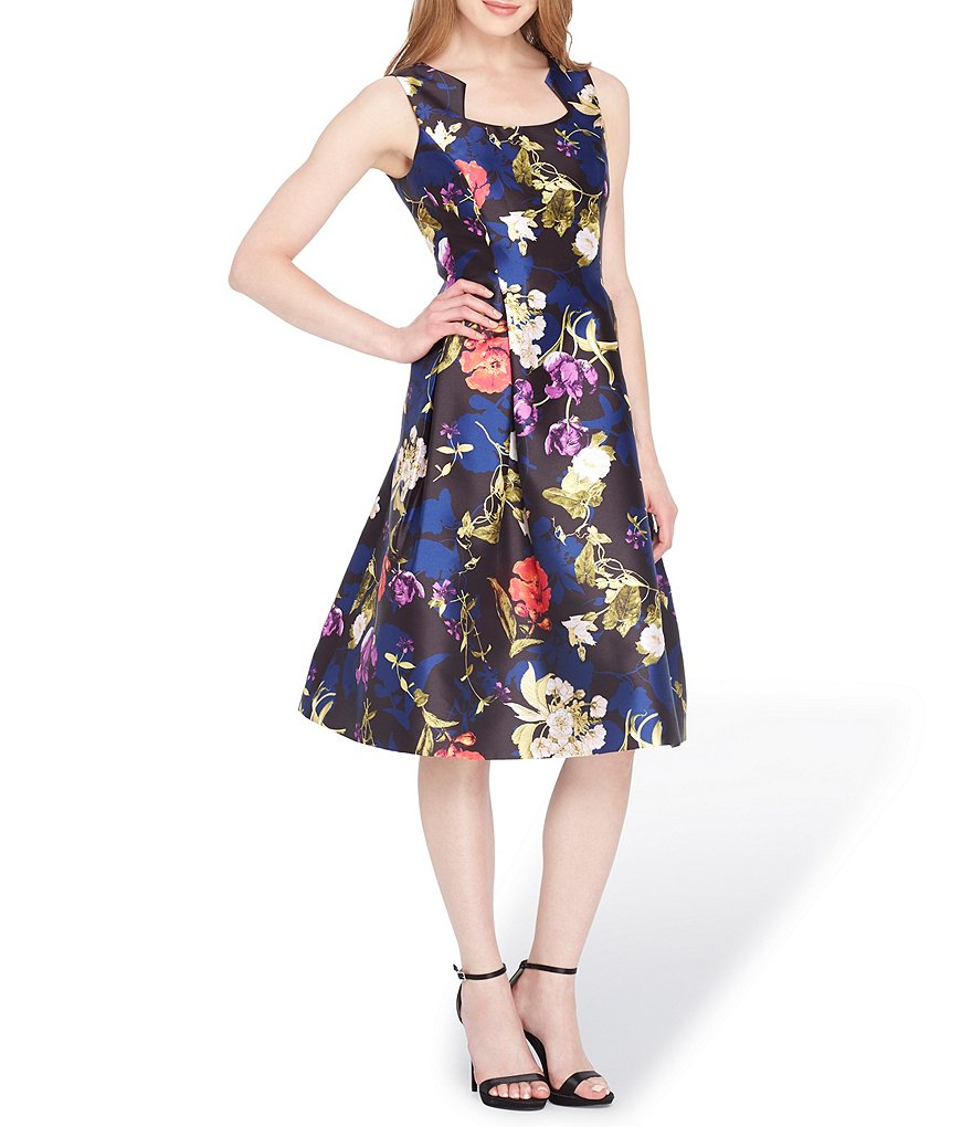 Tahari ASL Floral Mikado Dress