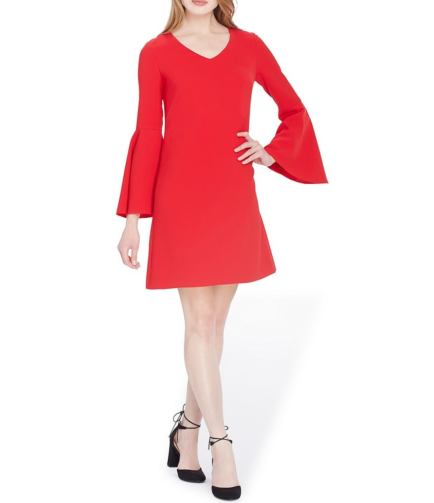 Tahari ASL Petite Bell Sleeve Shift Dress