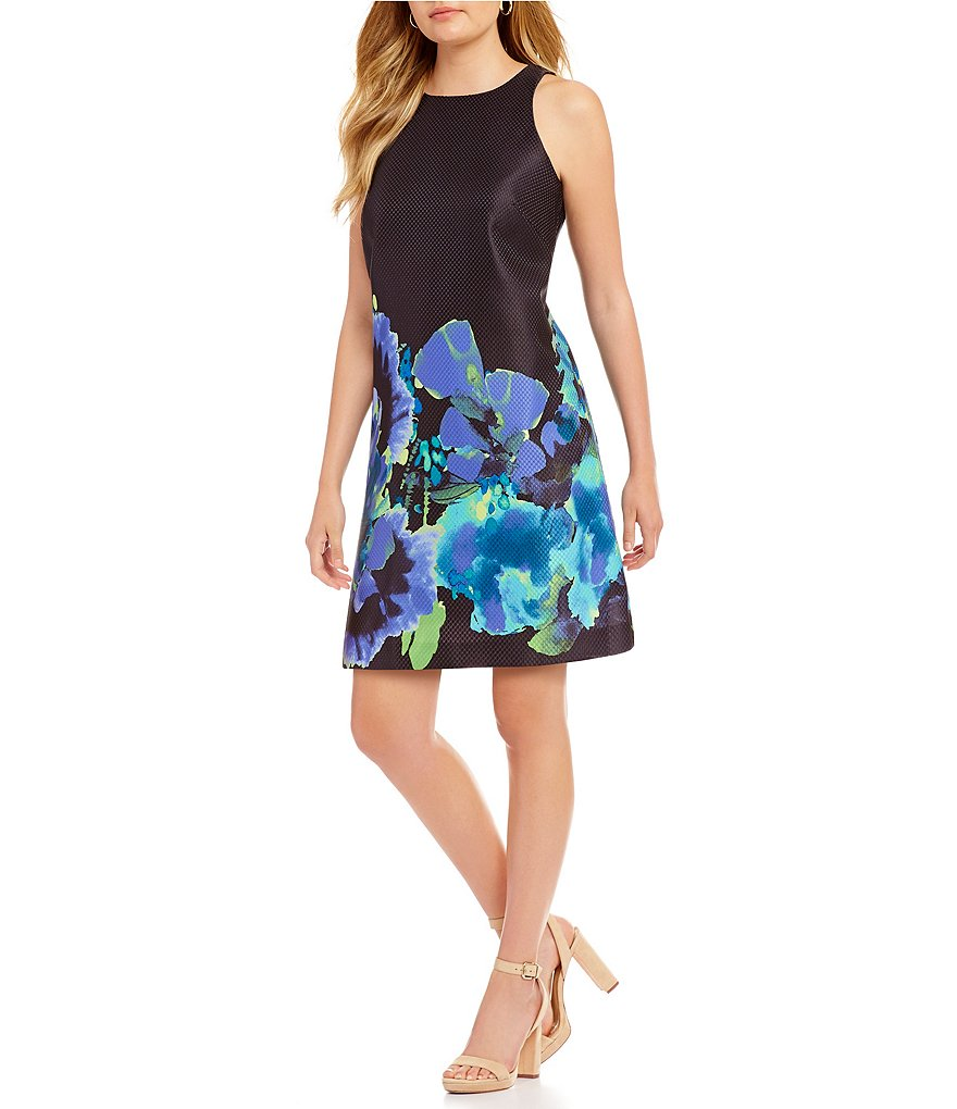 Tahari ASL Petite Floral-Print Shift Dress