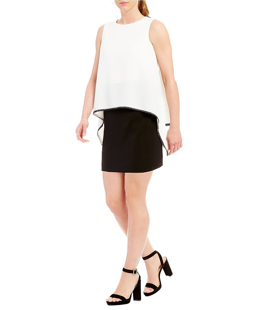 Tahari ASL Petite Popover Colorblock Dress