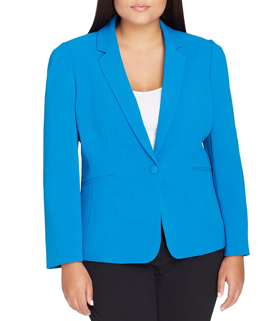 Tahari ASL Plus Notch Collar Jacket