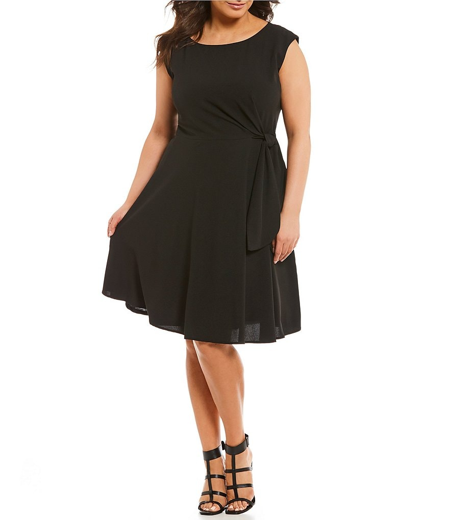 Tahari ASL Plus Side Tie Dress