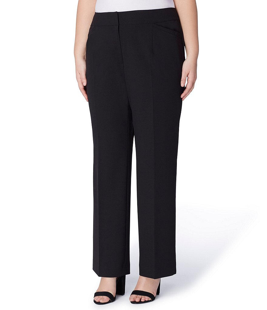 Tahari ASL Plus Size Bi-Stretch Straight Leg Pant