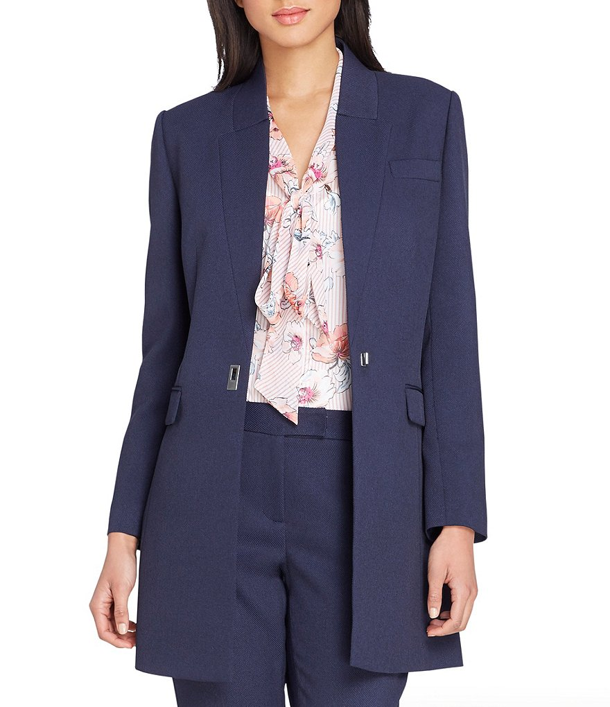 Tahari ASL Stretch Twill Topper Jacket