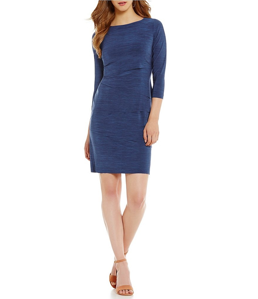 Tahari ASL Tiered Melange Sheath Dress