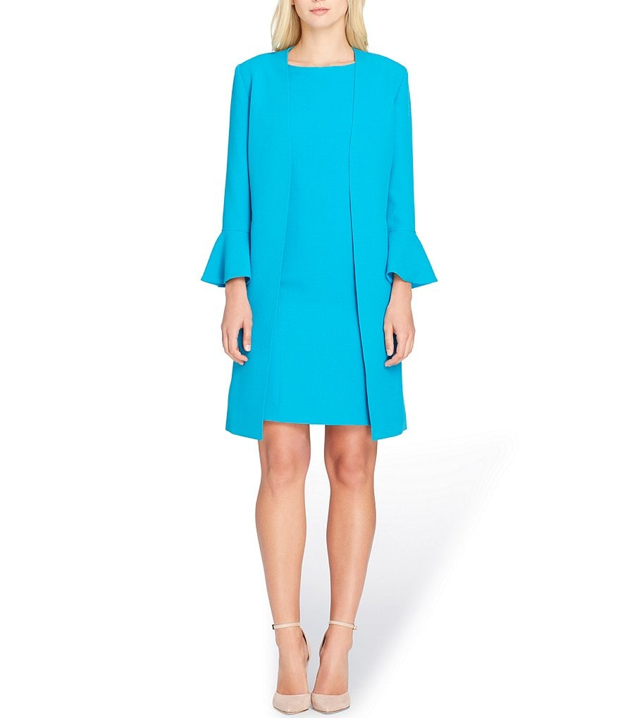 Tahari ASL Trumpet Sleeve Jacket Dress Suit