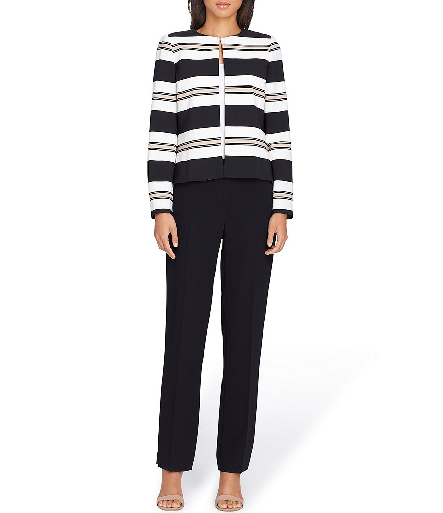 Tahari ASL Varigated Striped Pant Suit