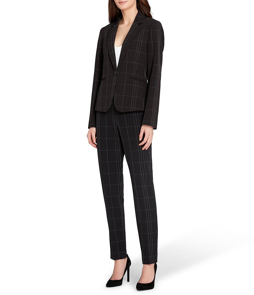 Tahari ASL Window Pane Pant Suit