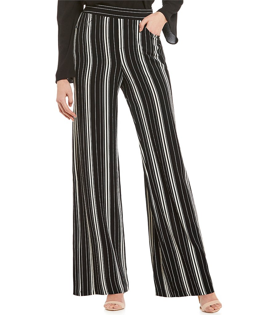 Takara Striped Wide-Leg Pants