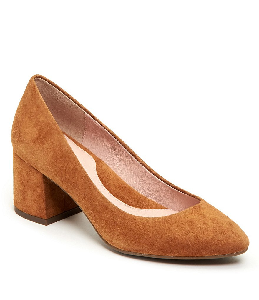 Taryn Rose Rochelle Suede Block Heel Pumps