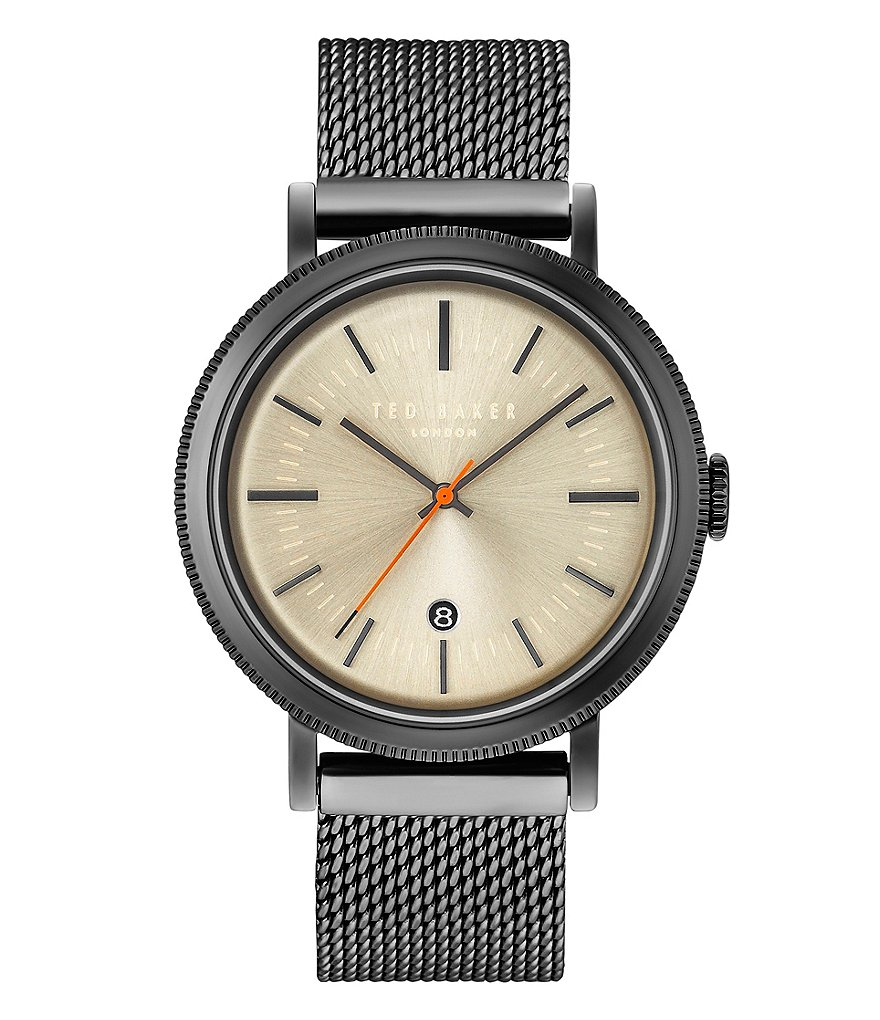 Ted Baker London Connor Analog & Date Mesh Bracelet Watch
