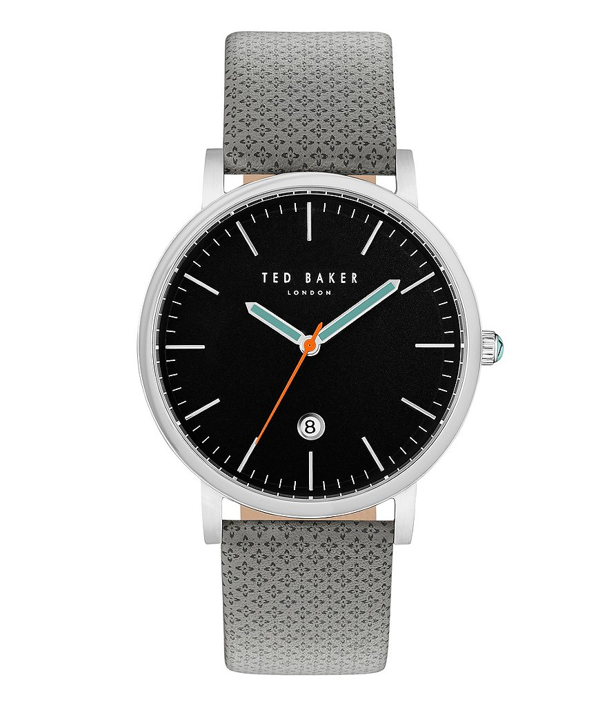 Ted Baker London Graham Analog & Date Leather-Strap Watch