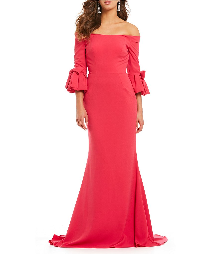 Terani Couture Off the Shoulder Gown