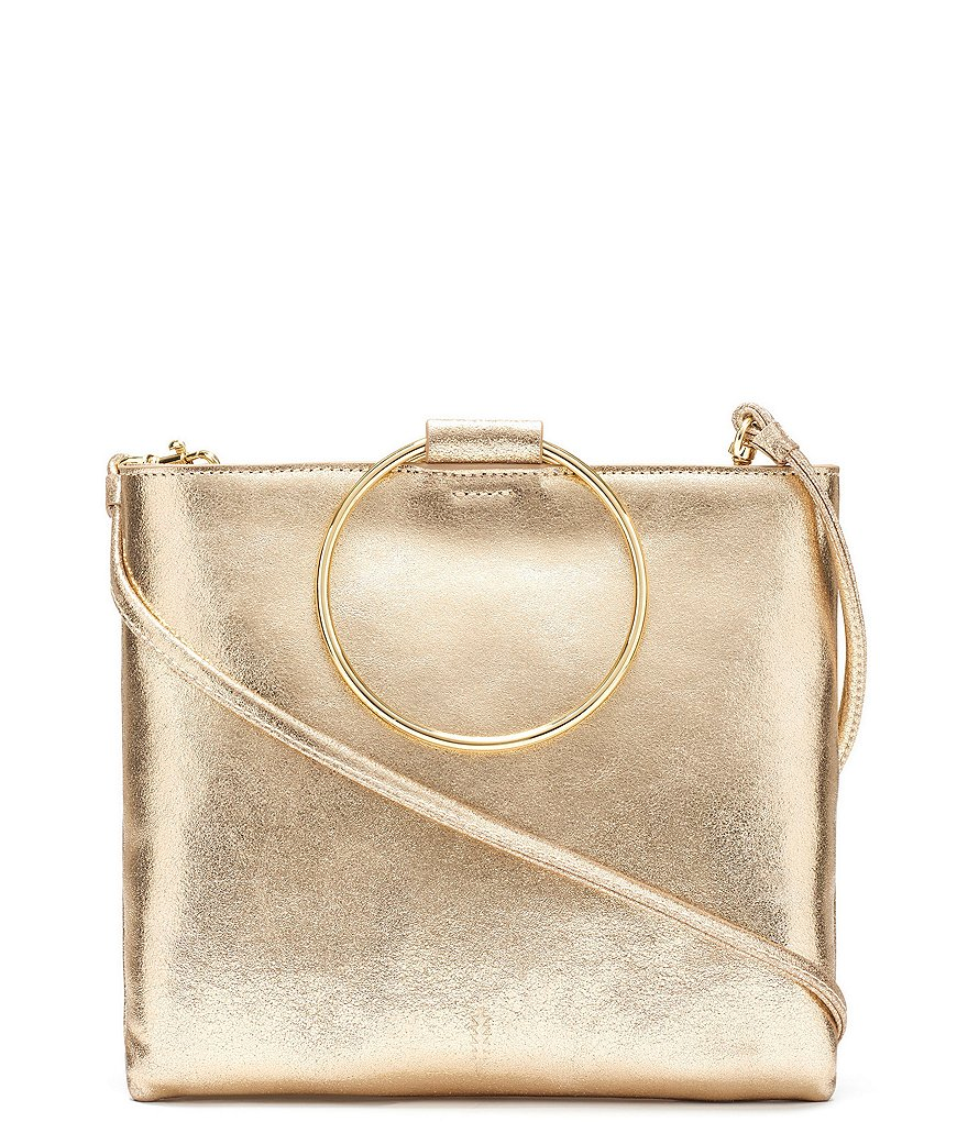 Thacker Le Pouch Metallic Ring Handle Cross-Body Bag