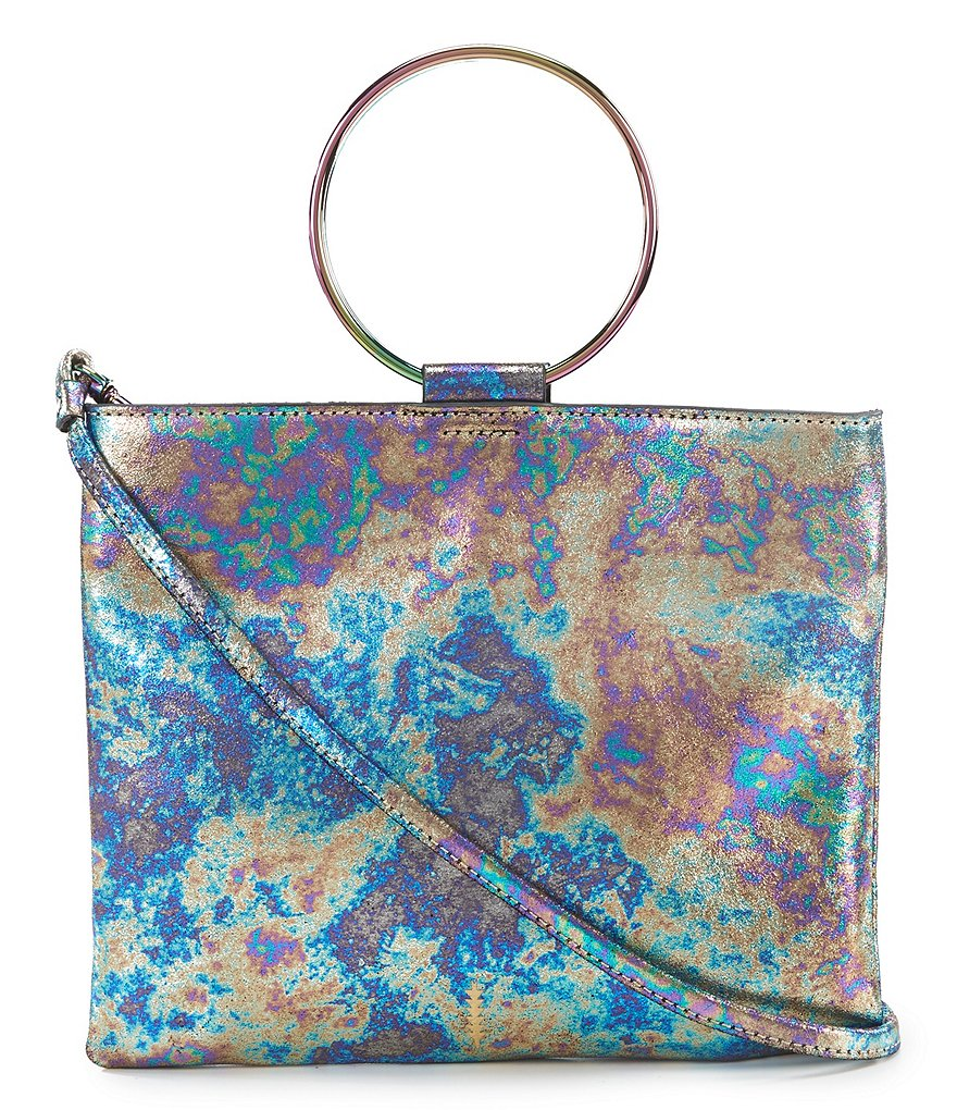 Thacker Le Pouch Oilslick Slim Ring Handle Cross-Body Bag