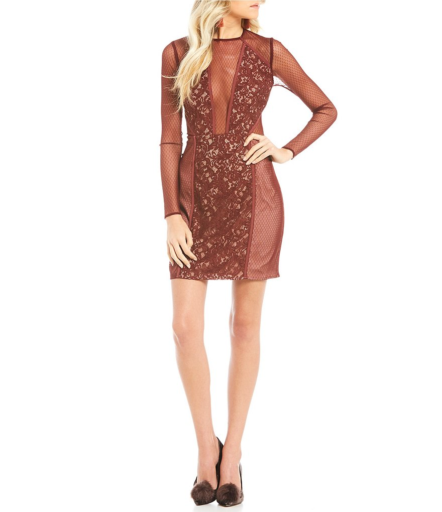 The Jetset Diaries Emerson Deep V-Neck Lace Mini Dress