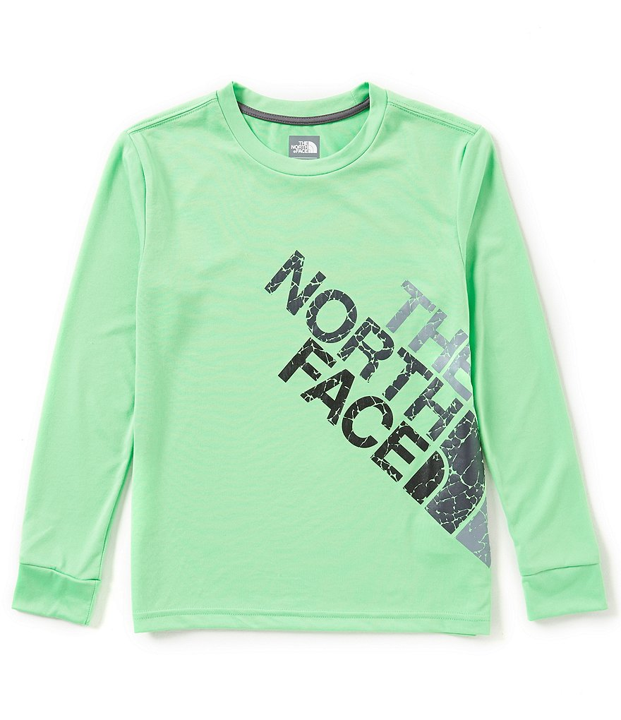 The North Face Little/Big Boys 5-20 Reaxion Crackle Logo Long-Sleeve Tee