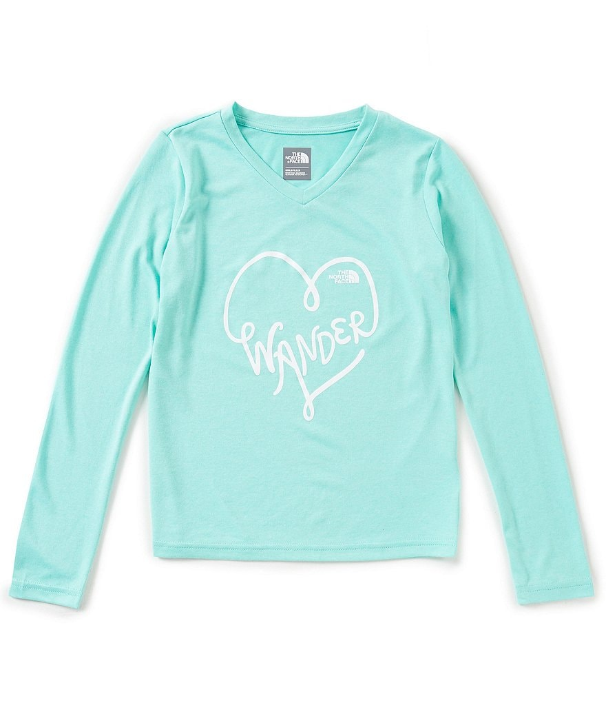 The North Face Little/Big Girls 5-18 Long-Sleeve Reaxion Wander Tee