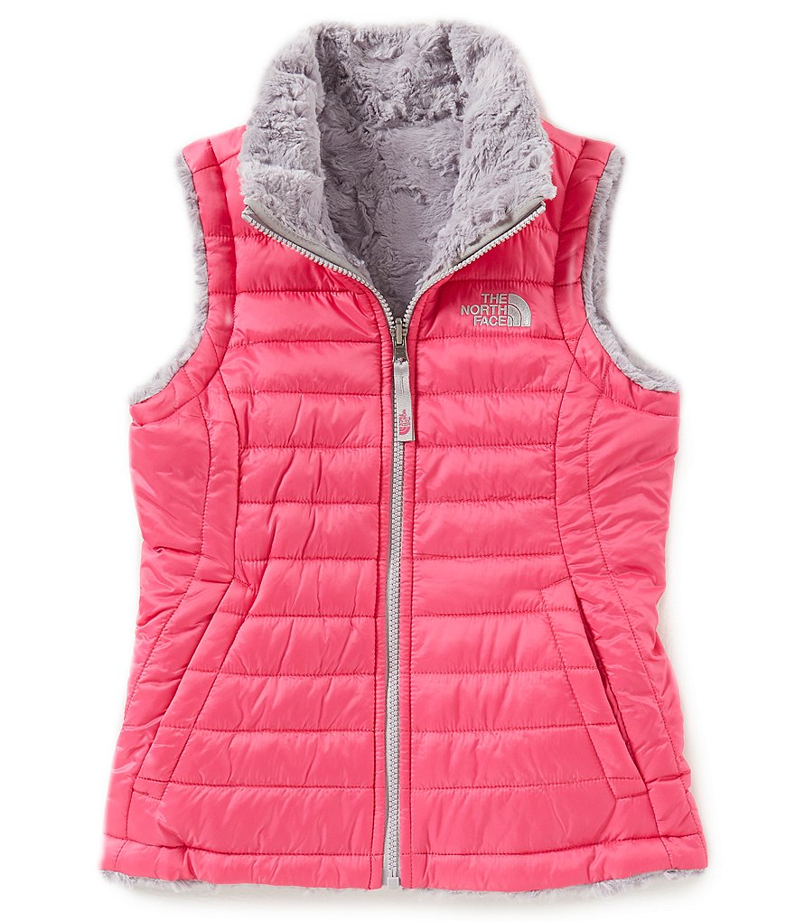 The North Face Little/Big Girls 5-18 Reversible Mossbud Swirl Jacket Vest