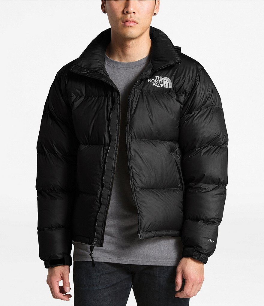 Vellidte The North Face Solid Nuptse Puffer Down Jacket | Dillard's RB-23