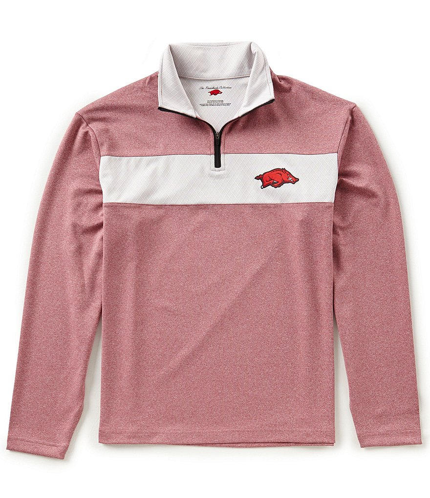 The Razorback Collection Quarter-Zip Hogs Long-Sleeve Pullover