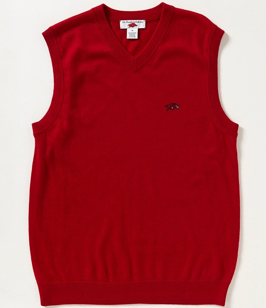 The Razorback Collection University of Arkansas Merino Wool Vest