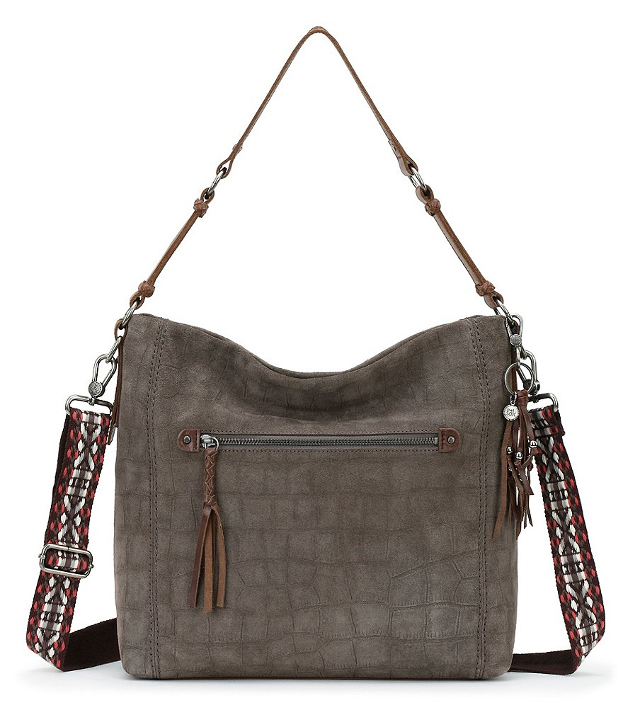The Sak Ashland Croc-Embossed Hobo Bag