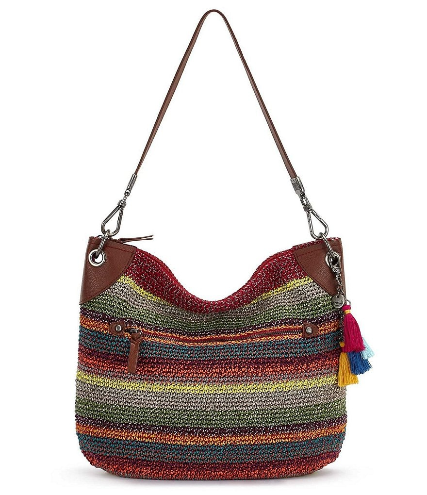 The Sak Collective Crochet Soto Striped Hobo Bag