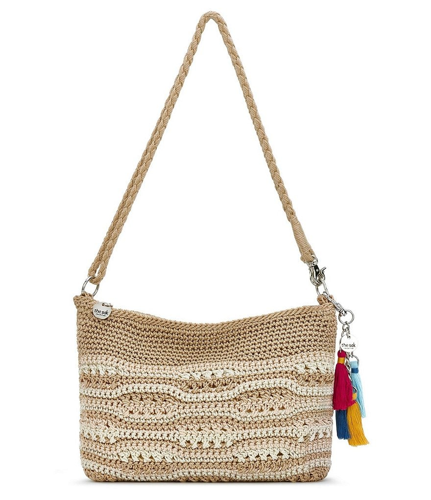 The Sak Collective Crochet Wave-Stripe Cross-Body Bag