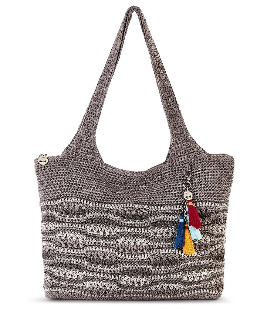 The Sak Collective Crochet Wave-Stripe Large Tote