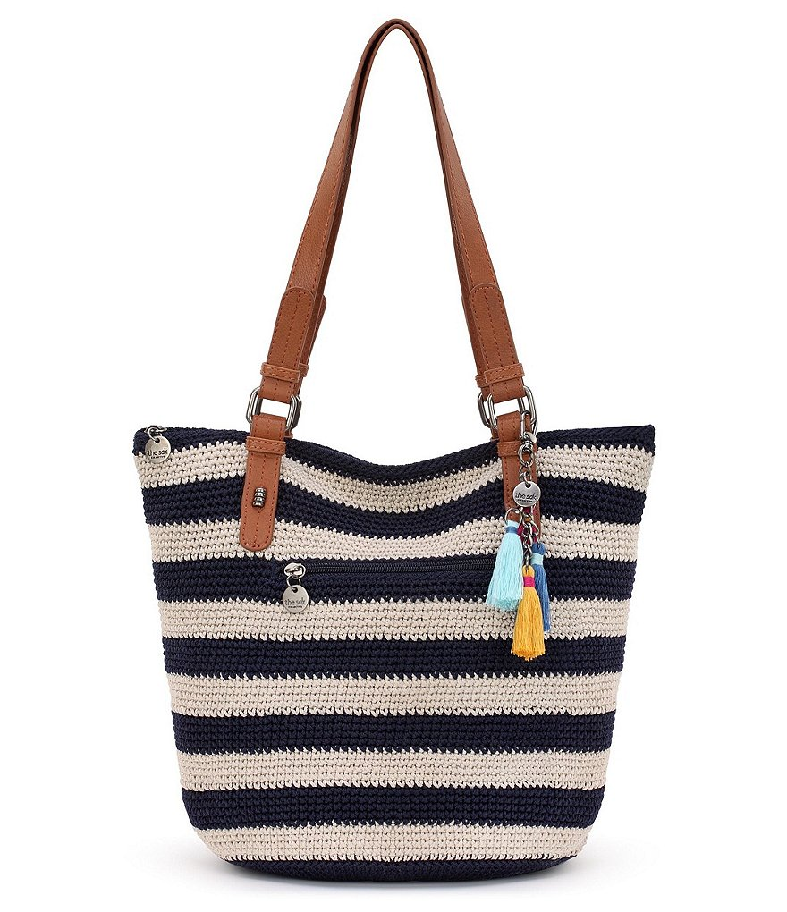 The Sak Collective Dakota Striped Crochet Shopper