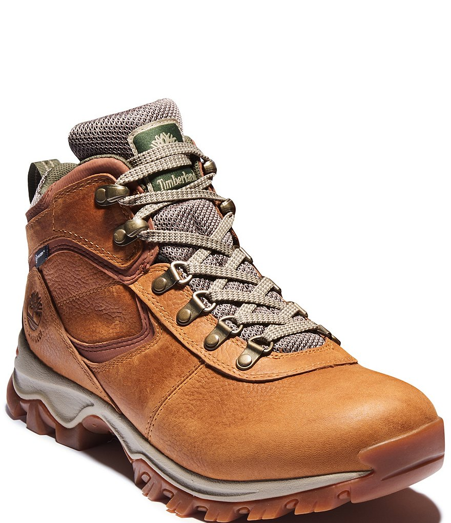 Timberland Men's Mt. Maddsen Premium Leather Waterproof Mid Hiking Boots