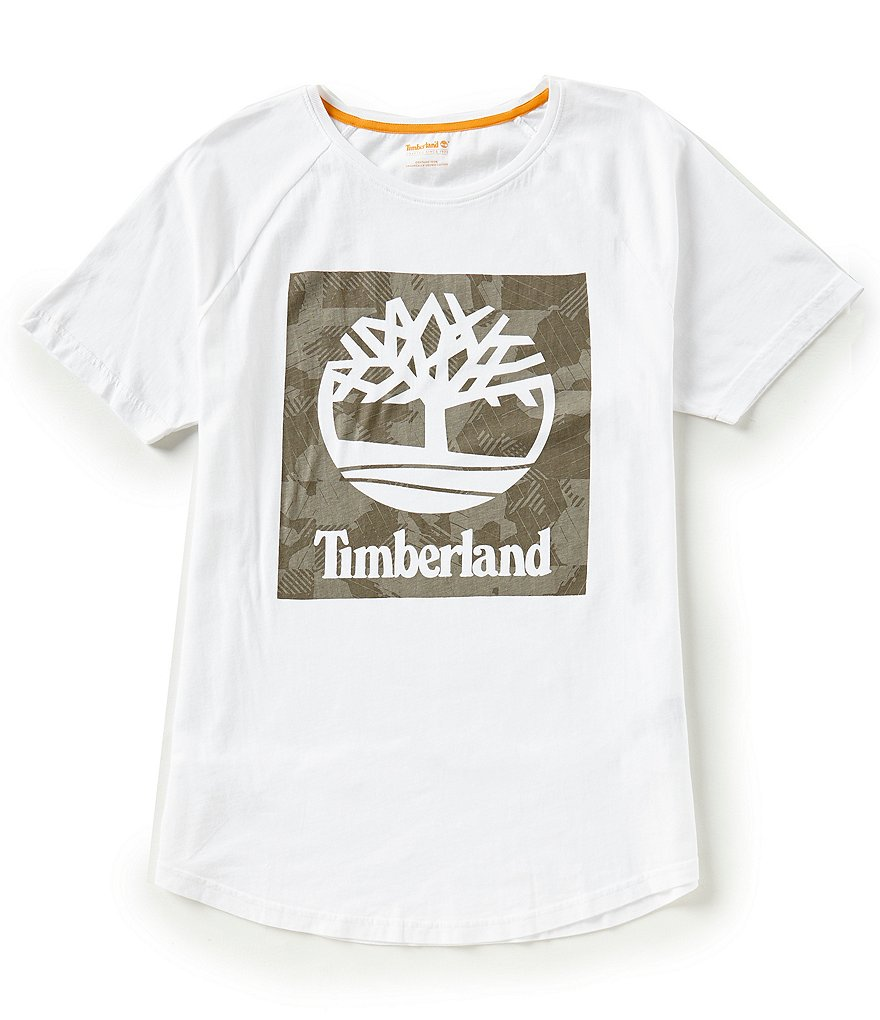 Timberland Wild River Camo Linear Short-Sleeve Tee