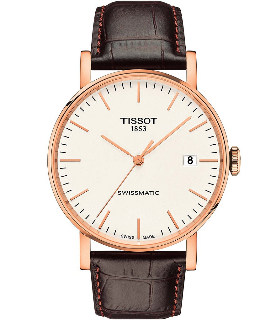 Tissot Everytime Swissmatic Leather-Strap Watch