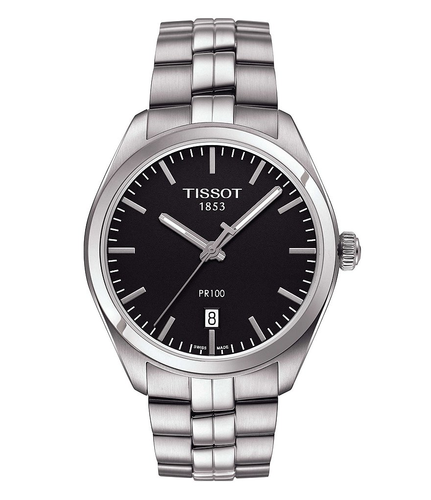 Tissot PR 100 Analog & Date Bracelet Watch