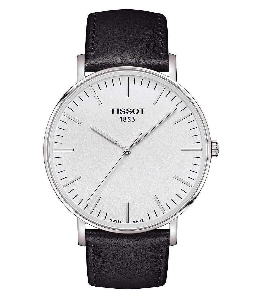 Tissot T-Classic Everytime Analog Leather-Strap Watch