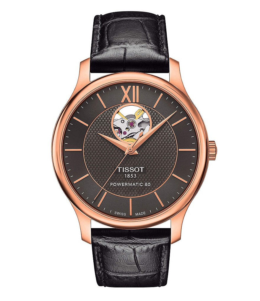 Tissot T-Classic Tradition Powermatic 80 Open Heart Watch  ee0249419f3