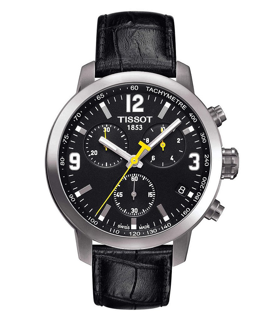 Tissot T-Sport PRC 200 Chronograph & Date Leather-Strap Watch