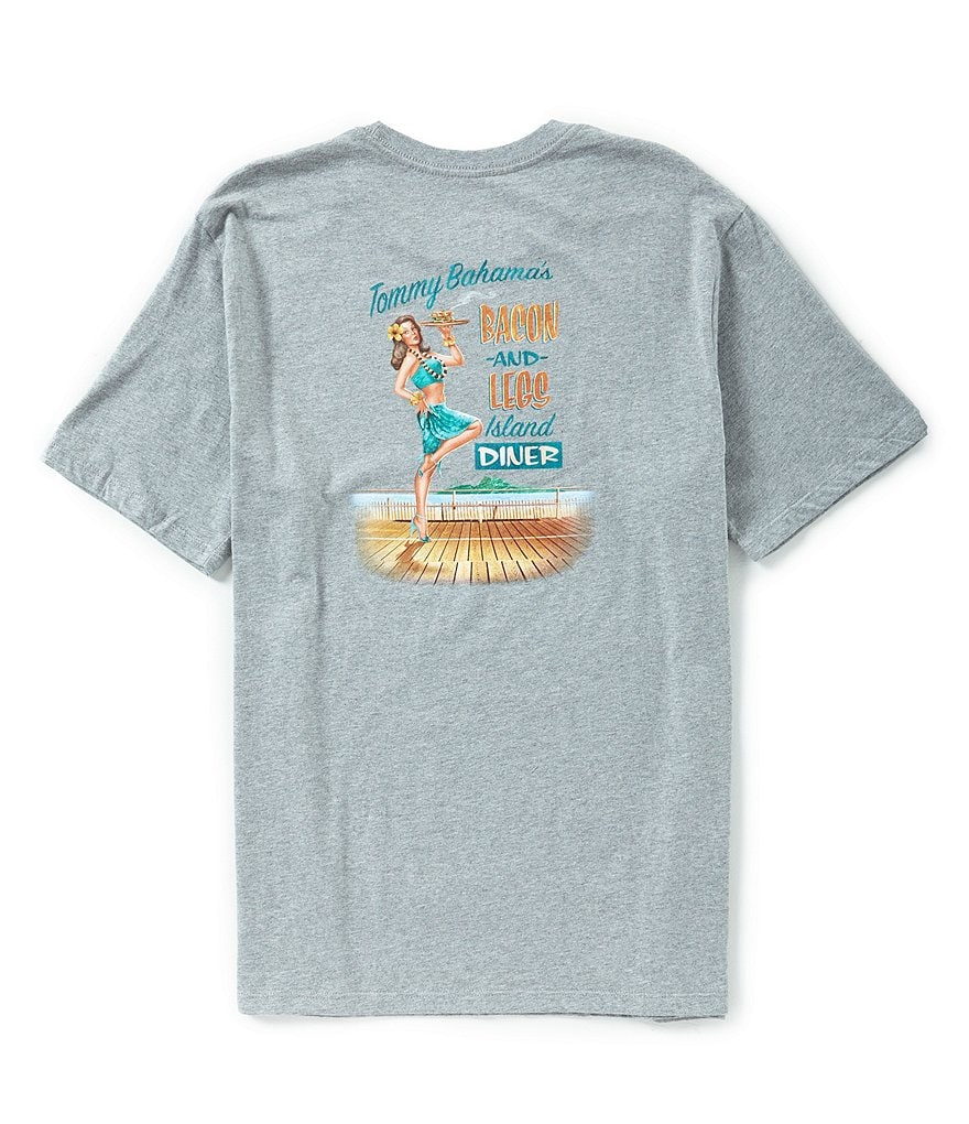 Tommy Bahama Bacon And Legs Short-Sleeve Crewneck Graphic Tee