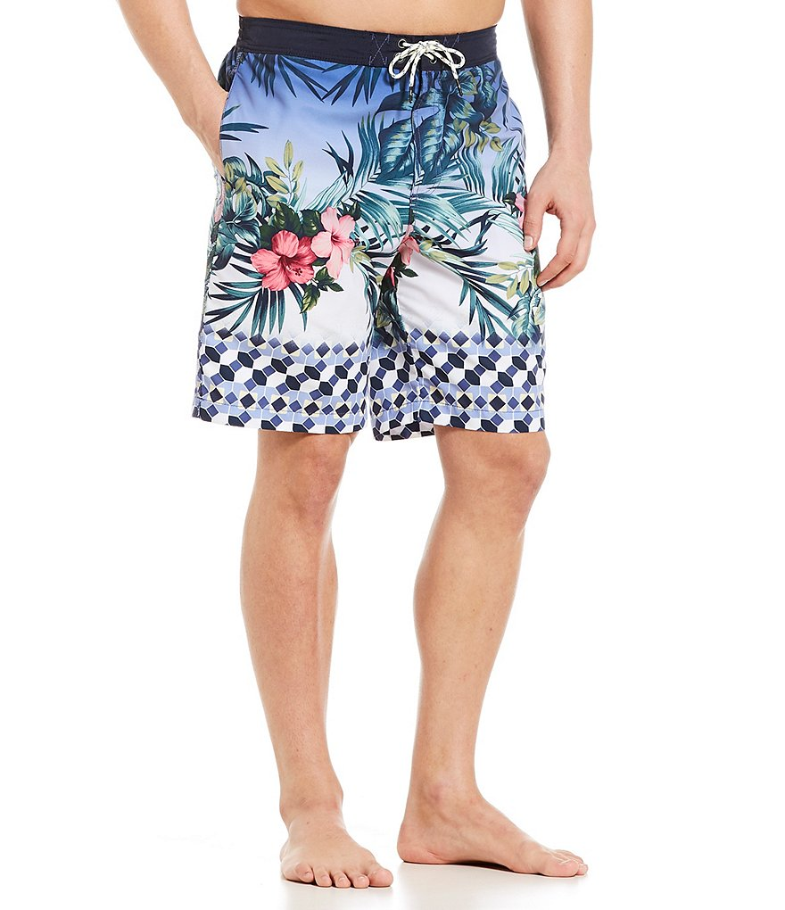 Tommy Bahama Baja Geo Grove 9#double; Swim Trunks