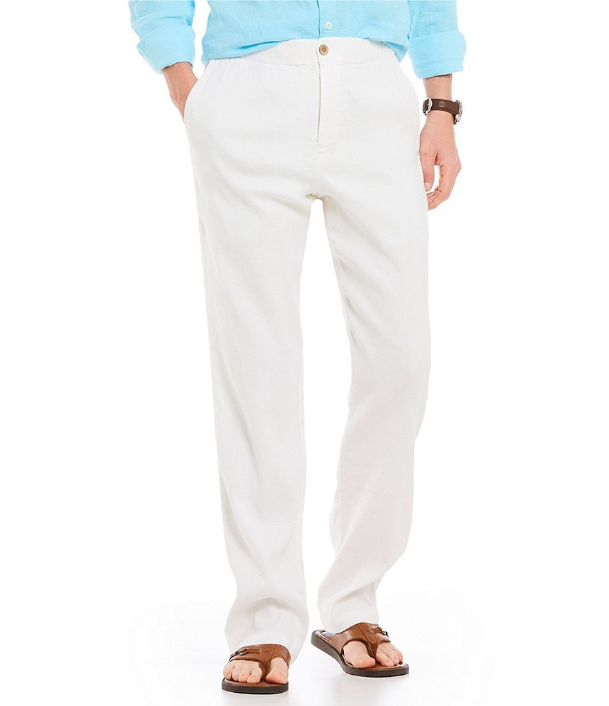 Tommy Bahama Beach Linen Straight Casual Flat Front Fit Pull-On Pants