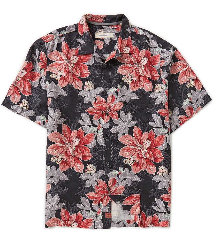 Tommy Bahama Big & Tall Festive Flora Silk Shirt